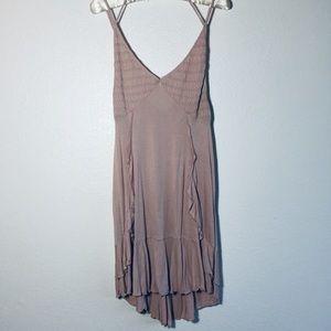 Free People Intimately Blush Ruffle Dress